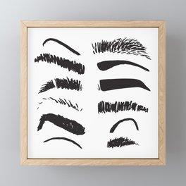 Sketchy Eyebrows Framed Mini Art Print