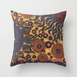 Summertime Batik Throw Pillow