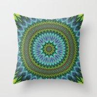 mandala Throw Pillows featuring Mandala by David Zydd