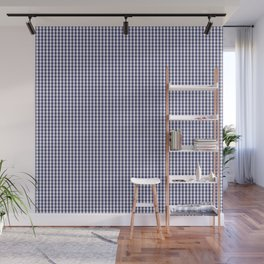 USA Flag Blue and White Gingham Checked Wall Mural