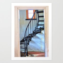 Admiralty Head Lighthouse Stairs Art Print