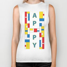 Happy Mondrian Biker Tank