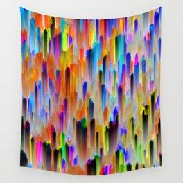 Colorful digital art splashing G393 Wall Tapestry