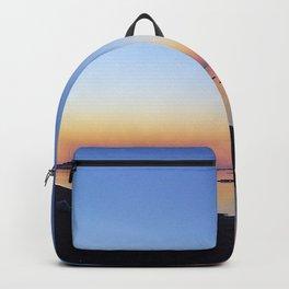 Winter Beach Sunset Backpack