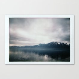 Brume sur Montreux Canvas Print