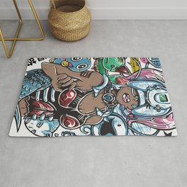 Space Channel Hair Rug