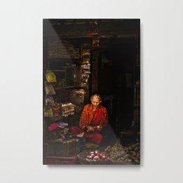 Vegetable shop in Kathmandu, Nepal Metal Print