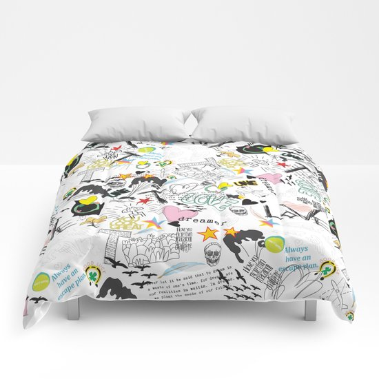 Pop Art ( Cartoon Pattern) V2 Comforters