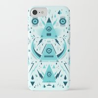 transformer iPhone & iPod Cases featuring Triangle Alien Transformer Attack  by badbugs_art