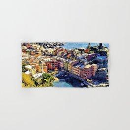 Cinque Terre Vernazza Village Mediterranean Coast, Italy Hand & Bath Towel