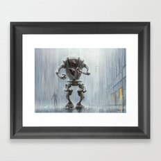 In The Rain Framed Art Print