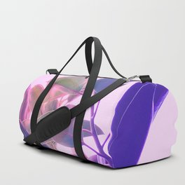 Elegant Tropical Rubber Foliage 1 - Pink and purple Duffle Bag