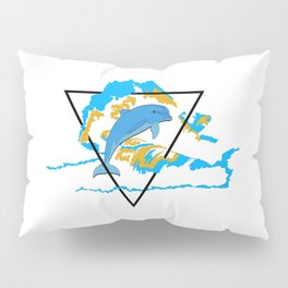 Dolphin in water element Pillow Sham