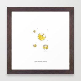 niki owls in a bubble Framed Art Print