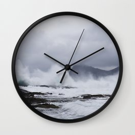 Waves in the Faroe Islands Wall Clock