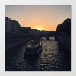 #ParisPostcards || Seine Canvas Print