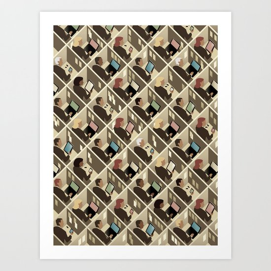 Cubicles Art Print