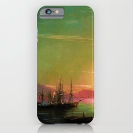 Sunrise in Feodosia on the Black Sea by Ivan Aivazovsk iPhone Case