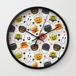 Halloween Candy Buckets Wall Clock