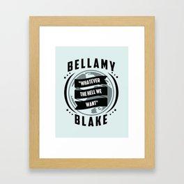 The 100, Bellamy Blake Framed Art Print