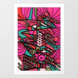 Make Art for Yourself (pink) Art Print