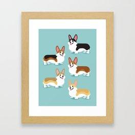 Color me Corgi Framed Art Print