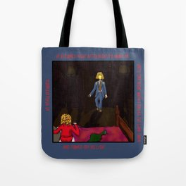 Lampshade Man Fright Tote Bag
