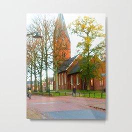 Autumn in Haren The Netherlands Metal Print