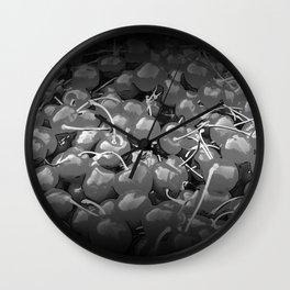 cherries pattern reaclibw Wall Clock