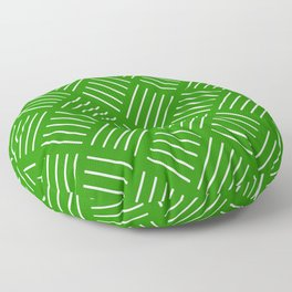 Abstract geometric pattern - green and white. Floor Pillow