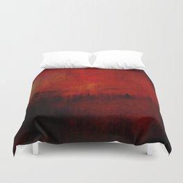 FOREST RED Duvet Cover