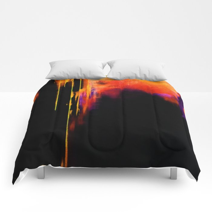 Crooked Drips Comforters