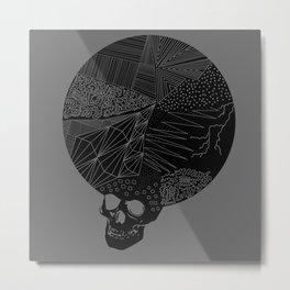 BLK SKL Metal Print
