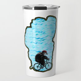 Tahoe Bicycle Bear - Ride Around the Lake Travel Mug