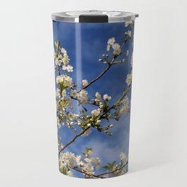 White Cherry Blossoms Travel Mug