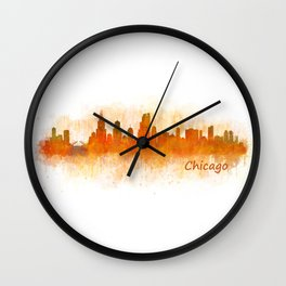 Chicago City Skyline Hq v3 Wall Clock