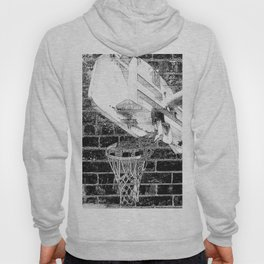 Black and white basketball artwork Hoody