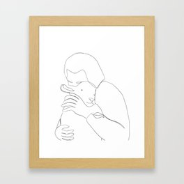 The Good Shepherd line drawing Framed Art Print