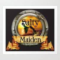 Mermaid -Salty Maiden Portal Art Print
