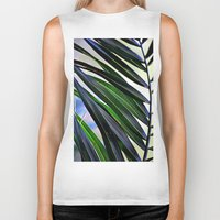 palm Biker Tanks featuring palm by  Agostino Lo Coco