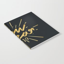 Happy New Year 2019 Silvester Firework Gift Idea Notebook