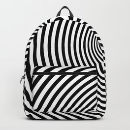 Vortex, optical illusion black and white Backpack