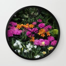 Garden Delight Wall Clock
