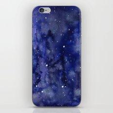 Night Sky Galaxy Nebula Stars Watercolor Space Texture iPhone & iPod Skin
