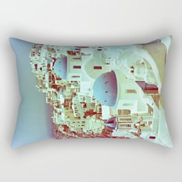 Santorini in Raspberry and Blue: shot using Revolog 600nm special effects film Rectangular Pillow