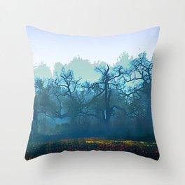 Skragley Oak Trees in the Laguna de Santa Rosa, Sonoma County, California Throw Pillow