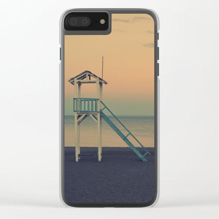 Sunset Beach Clear iPhone Case