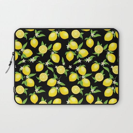You're the Zest - Lemons on Black by larkstudios