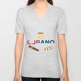 Cuban Cigar Coffee Domino Havana Cuba Lover Unisex V-Neck