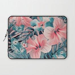 Vintage Jade Coral Aloha Laptop Sleeve
